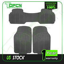 3PC Trunk Floor Mats for Dodge Ford Truck All Weather Rubber Black Auto Liners