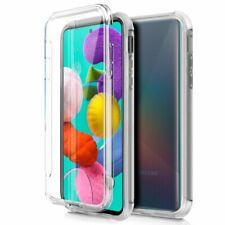 Hülle Silikon Hart Case TPU Samsung A51 Transparent 360 Hinten + Vorne Gehäuse