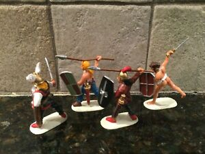 Toy Soldiers 4 Plastic 54mm Gauls