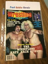 WRESTLING 1979 YEARBOOK DECEMBER NATURE BOY RIC FLAIR DINO BRAVO ON FRONT COVER
