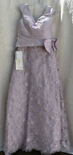 Montage by Mon Cheri Womens Lavender 100% Silk Dress Gown 6