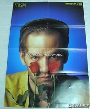 REM MICHAEL STIPE UK Double POSTER 80s from NME Rare !!! Big Size 82 x 57 Cm !!