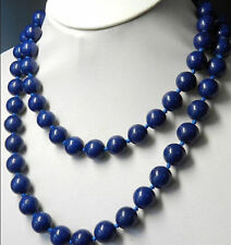 """long 36"""" 10mm Egyptian Lapis Lazuli Round Beads Gemstones necklace"""
