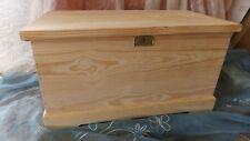 BAUL COFRE de madera maciza con CERRADURA. XXL 1 metro de largo.