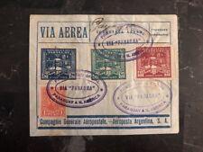 1930 Asuncion Paraguay First Flight cover FFC to New York USA Panagra