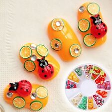 Fimo Clay Cool Rhinestones DIY Nail Art 3D Manicure Wheel Fruit Slices