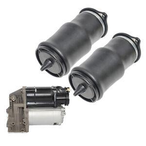 For Mercedes-Benz Viano Vito Bus Box Pair Air Suspension Springs + Compressor