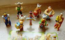 Rare lot série Kinder asterix 2009 complète 8 figurines AVEC BPZ