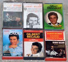 Lot 6 Cassettes Audio Gilbert Bécaud - K7