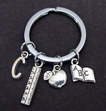 Personalized Teacher Key Chain,Teacher Appreciation Gift,Teacher Keyring Jewelry