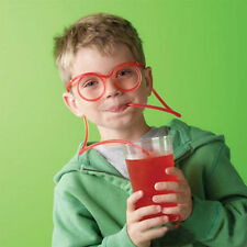 1 X Novelty Silly Clear Drinking Straw Glasses Straws for Kids Christmas Party