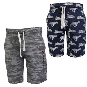 RockBerry  Mens Casual Tiger Skin Printed Cotton Blend Fleece Camouflage shorts