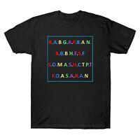 Rabgafban City Girls Act Up Funny Men's Black Cotton T-Shirt Novelty Gifts Tee