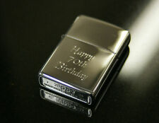More details for personalised genuine high polish chrome zippo lighter engraved smoking mens gift