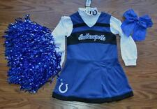 CHEERLEADER OUTFIT HALLOWEEN COSTUME INDIANAPOLIS COLTS UNIFORM CHEER SET 4T 4