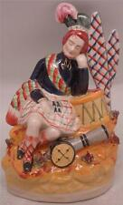 Staffordshire Pottery Figure - Soldiers Dream - Scottish Kilt Wearing Highlander