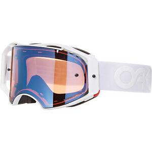 Oakley Airbrake MX Goggle Factory Pilot Whiteout w/Prizm MX Sapphire Lens