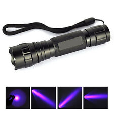 Hot UV 501B LED Ultra Violet Light Flashlights Torch 18650 Light Lamps