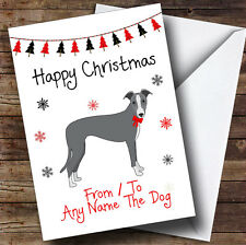 Italian Greyhound From Or To The Dog Pet Personalised Christmas Card