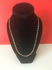 Solid Rose Gold 14K Chain Russian Gold New Necklace 585