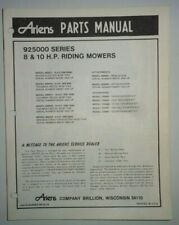 Ariens 8 & 10 H.P. 925000 Series Riding Mower Parts Catalog Manual Original lawn