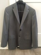 Saks Fifth Avenue Men's Loro Piana 100% Wool 40R Suit Coat Gray 2 Button #hang
