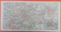 Stuttgart mit Vororten  Baden-Württemberg  Stadtkarte historisch Stadtplan 1908