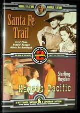 NEW SANTA FE TRAIL - KANSAS PACIFIC DVD - RONALD REAGAN - ERROL FLYNN + CARTOON