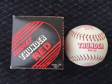 "Dudley 12"" Thunder Red Leather Official Softballs-13 available"
