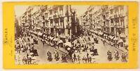 Napoli Rue Toledo Italia Foto Stereo PL55L3n Vintage Albumina c1865