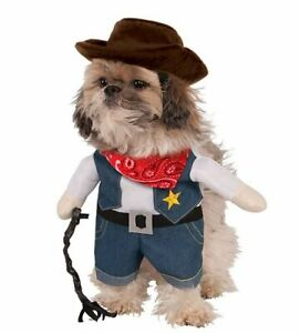 Cowboy Dog Halloween Costume Pet Costumes Rubies Walking Cowboy