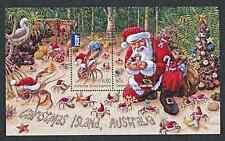 CHRISTMAS  ISLAND  2014   SANTA & CRABS   MS   MNH
