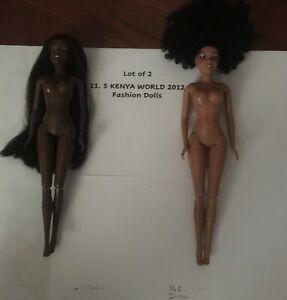 Lot of Two KENYA WORLD 2012 Fashion Dolls