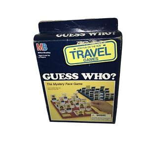 New GUESS WHO Travel (1989) Vintage Board Game Milton Bradley Mystery Vtg