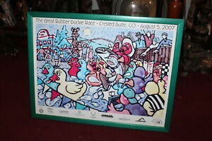 The Great Rubber Duckie Race Poster 2007 Crested Butte Colorado Framed