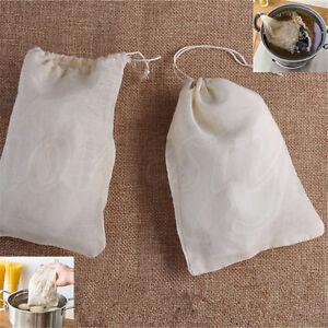 Cotton Muslin Drawstring Reusable Bags Bath Soap Herbs Tea Making Hot
