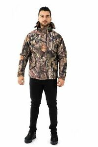 Mens Camouflage Padded Jacket Hunting Hiking Fishing Hooded Outdoor Army Jungle