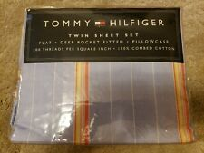 Nwt New Tommy Hilfiger Twin Sheet Set