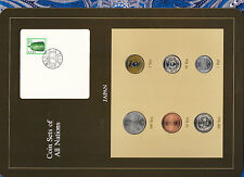 Coin Sets of All Nations Japan w/card 1981 -1983 UNC 1,10,500 Yen 1983