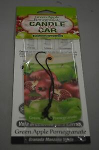 Smoke Odor Exterminator Candle for the car Green Apple Pomegranate  Freshener