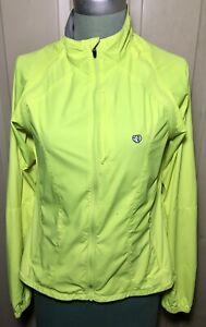 Pearl Izumi Womens Sz S Convertible Neon Green Cycling Reflective Jacket Vest