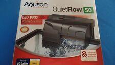 NIB Aqueon QuietFlow 50 Gallon Aquarium Power Filter w/ LED Cartridge Change
