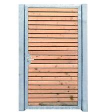 Gartentor Holztor mit Pfosten 125cm x 180cm Tor Pforte Verzinkt Holzfüllung Quer