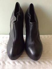 CARVELA real leather ladies black stiletto shoe boot size 5/37