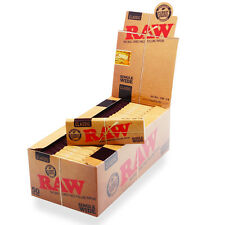 Full Box (50) RAW Single Size Natural Classic Standard Size Rolling Papers