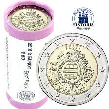 25 x Estonia 2 monedas del euro 2012 BFR. 10 años euro efectivo en papel
