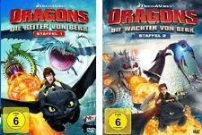 8 DVDs * DRAGONS - STAFFEL 1+2 (DIE REITER/ WÄCHTER VON BERK) IM SET # NEU OVP +