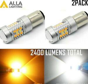 1157 LED Front Turn Signal Light Bulb Blinker Switchback Dual Bi-color Flashback
