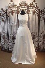 WW120 W COLLECTION 4054LSA SZ 12 IVORY  WEDDING FORMAL GOWN DRESS