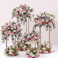 4Pc Flower Stand Metal Shelf Gold Flower Vase Road Lead Wedding Venue Decoration
